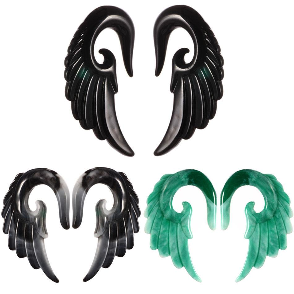 Best Prices Cross Border Amazon Wish Second Clay Expansion Angel Wing Auricle Resin Ear Extender Puncture Ornaments