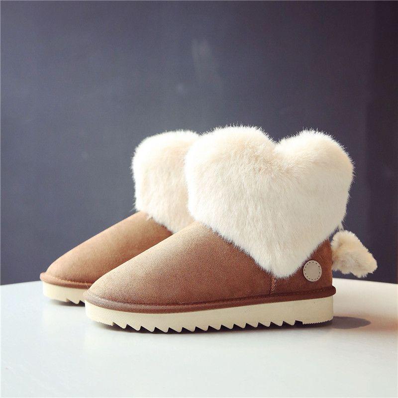 28a791c28 Compre Invierno Mujer Australia Clásico Arrodilla Media Botas De Nieve  Largas Tobillo Terciopelo Amor Corazón Negro Sandía Pinkt Sky Azul Marrón  Zapatos De ...