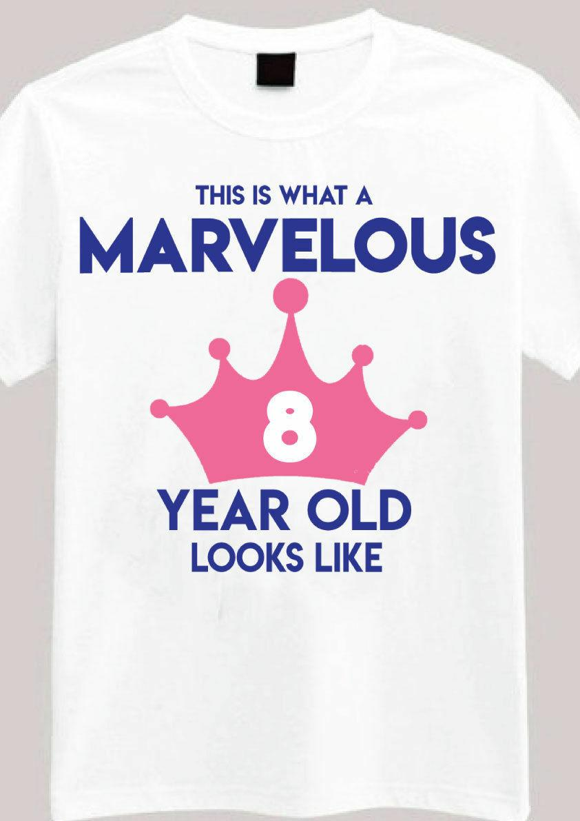 Marvelous 8 Year Old T Shirt 8th Birthday