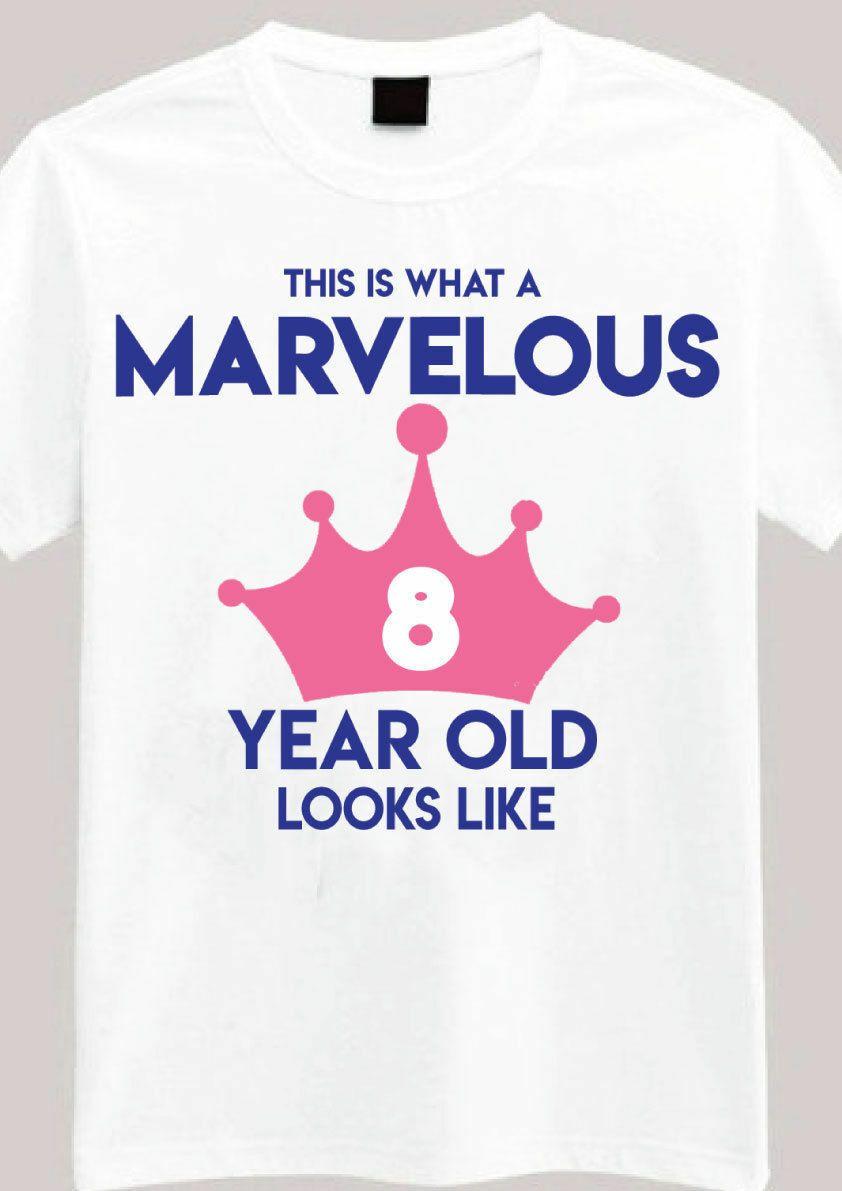 06f1cf8b10019 Acheter Merveilleux 8 Ans T Shirt