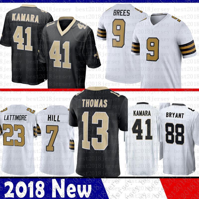 2019 Men New Orleans 9 Drew Brees Saints Jersey 41 Alvin Kamara 23 Marshon  Lattimore 13 Michael Thomas 7 Taysom Hill 28 Adrian Peterson 88 Bryant From  ... c05f81d2f
