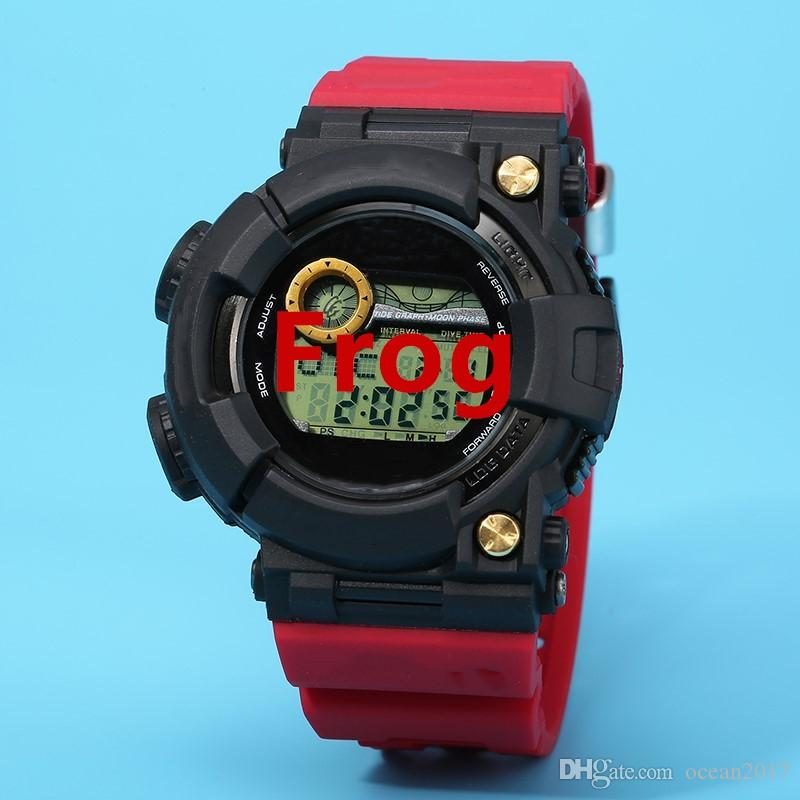 898089b2e3d AAA Quality Relogio Digital Frog Man Watch Rubber Men S Sport Clock  Military Shock Resistant Wristwatch With Box Online Watch Shop Watch Online  Shopping ...