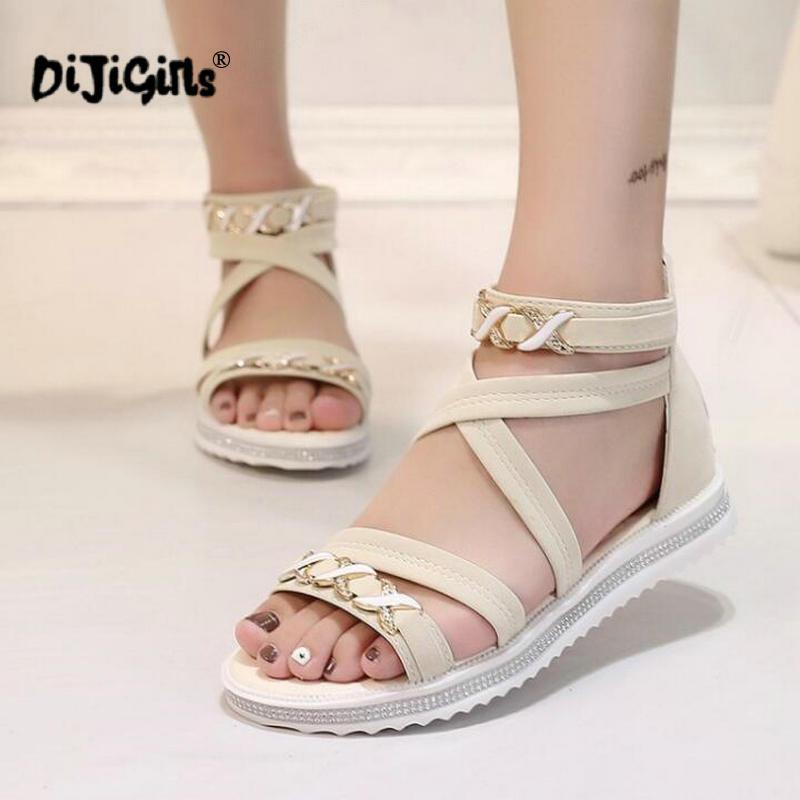 61302543d Women Flat Sandals Fashion Women Summer Shoes PU Leather Casual Sandals  Ladies Shoes Big Size Drop Shipping Gold Sandals Sandals For Women From  Totebeauty