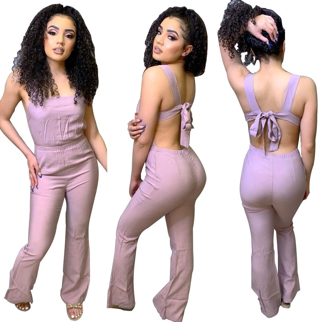 T3319H Ms. high-end explosions Europe and the United States urban casual fashion sweet suspenders jumpsuit