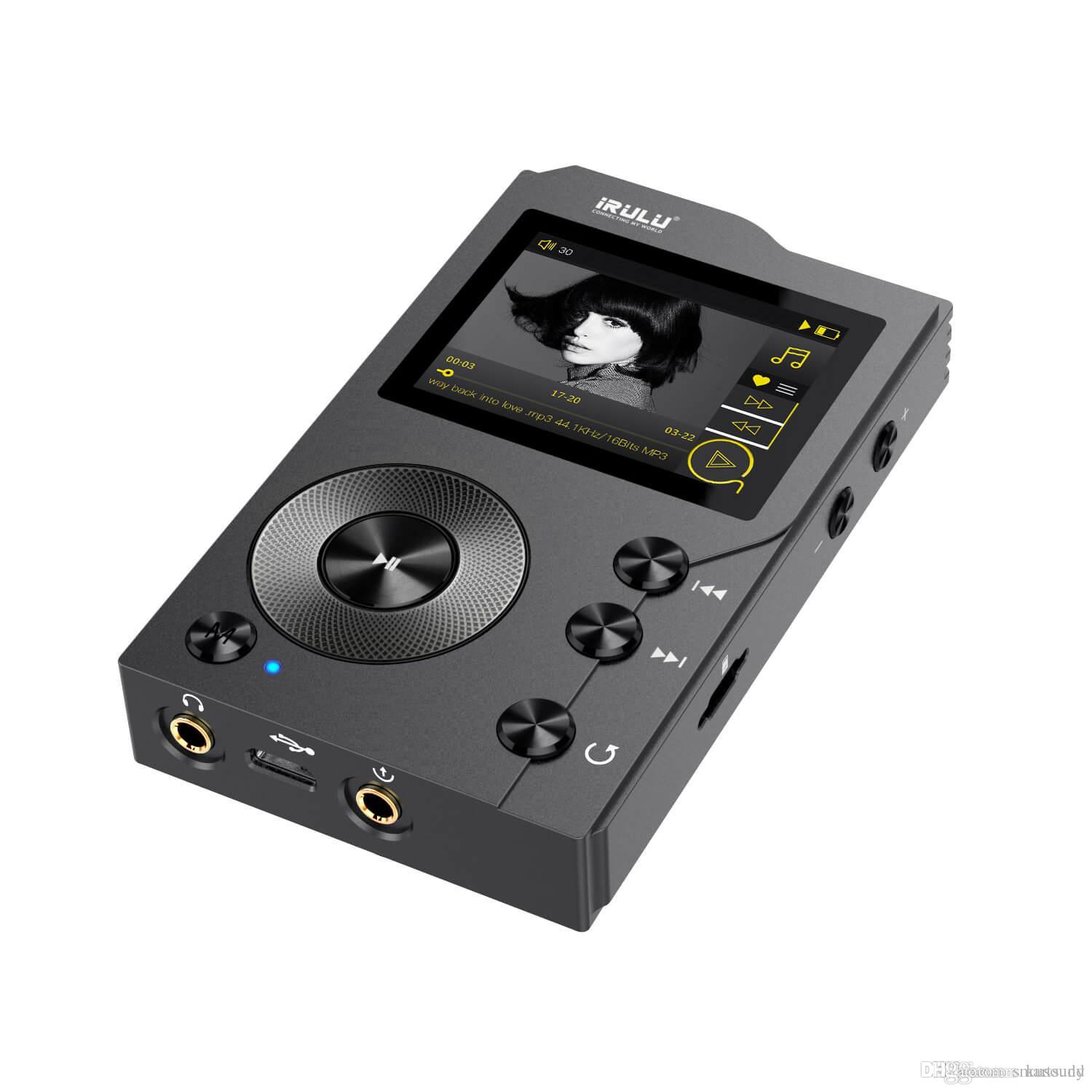 iRULU F20 HiFi Lossless Mp3 Player with Bluetooth:DSD High Resolution Digital Audio Music Player with 16GB Memory Card