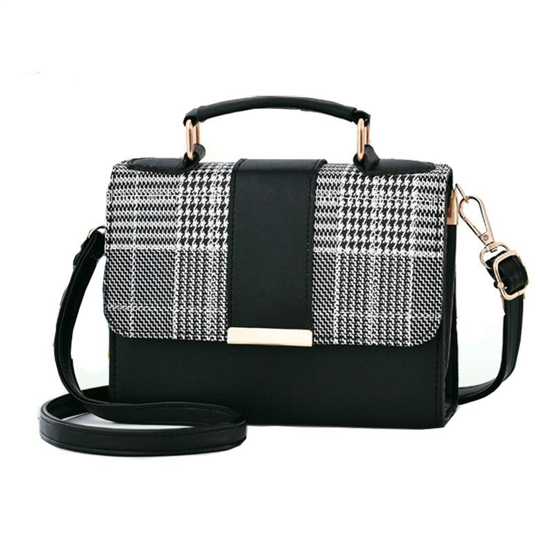 131c2405f66f 2019 New women Retro Plaid Small Square Package Minimalist Fashion casual  Stitching Wild Messenger Shoulder Bag Ms. Packet