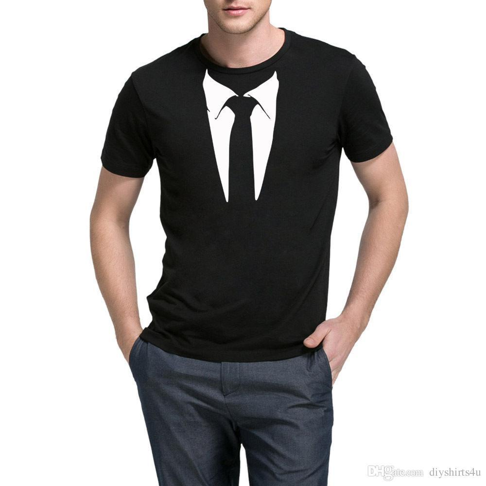 f58343e7b2c Mens Printed Suit Tie Tuxedo Casual Graphic T Shirts Men Tee T Shirt For Men  XXXL Custom Short Sleeve Boyfriend S Big Size Team Tshirt Interesting T  Shirt ...