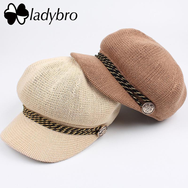 21858c177f0ed Wholesale Spring Summer Hat Women Sun Hat Berets Female Octagonal Hat Cap  Elegant Breathable Visor Sun Cap Lady Leisure Cap Femme Kids Hats Wide Brim  Hat ...