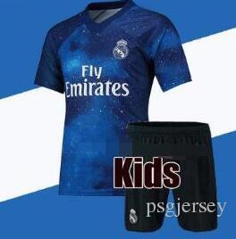 timeless design a707b 1ee99 2018 19 Kids Kit Real Madrid Football Jersey Home White ea blue Boy Soccer  Jerseys ISCO ASENSIO BALE KROOS Child Soccer Shirts