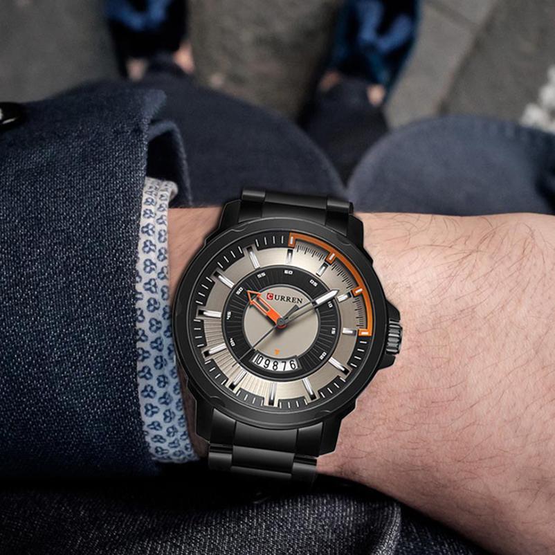 Compre Relojes 2018 Relojes Para Hombres CURREN Reloj Deportivo De Cuarzo Para  Hombre Relojes De Primeras Marcas De Lujo Negro Reloj Impermeable Relogio  ... cf3937bfe6a2