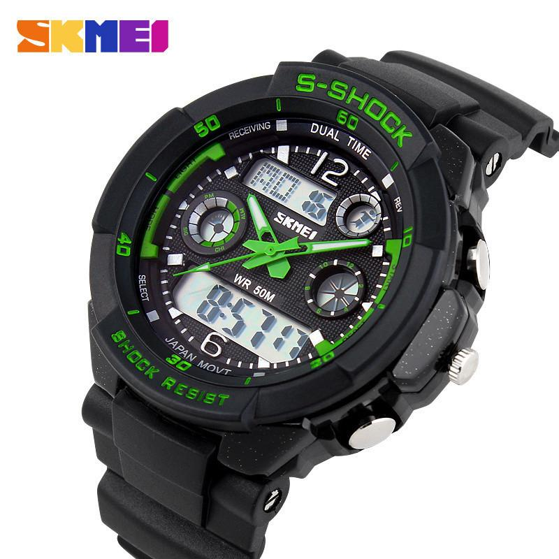 c71925f71b0 Compre S SHOCK 2017 Marca De Luxo Homens Esportes Relógios Militar Do Exército  Digital LED Relógio De Quartzo Relógio De Pulso Relogio Reloj SKMEI Relógio  ...