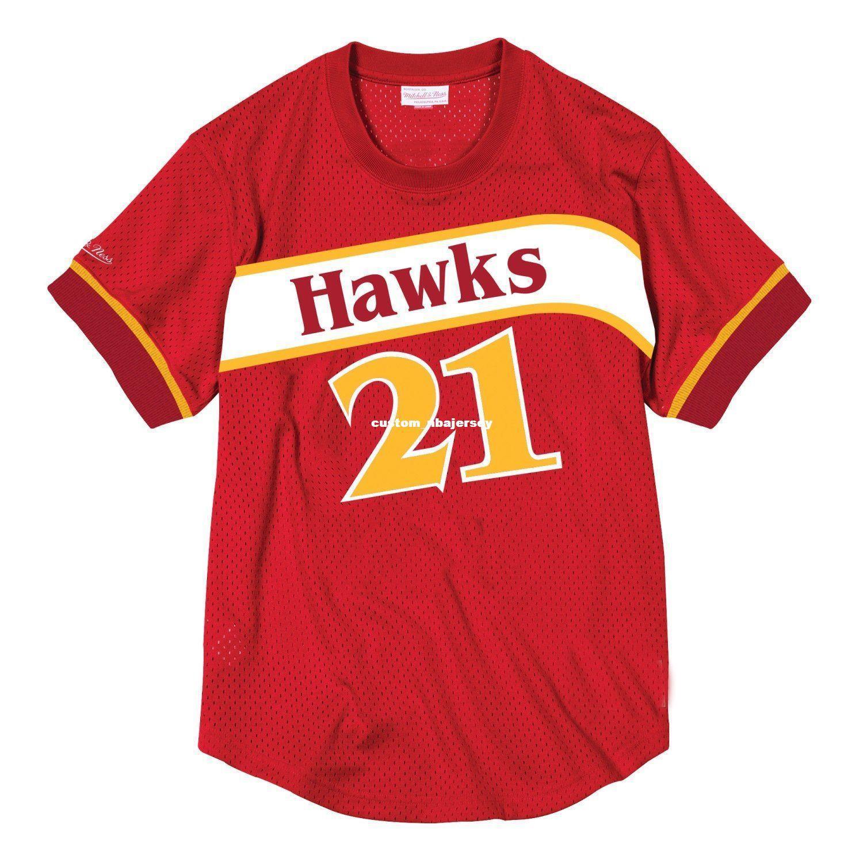 2019 Cheap Custom Dominique Wilkins Mitchell   Ness Men S Mesh Jersey Shirt  Stitched Summer Tee Retro Basketball Jersey From Custom nbajersey 2aa9a633da9