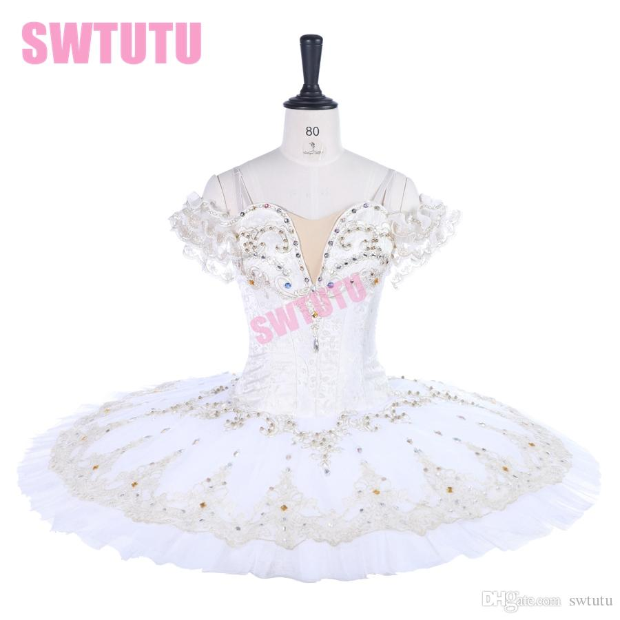 white ballet tutu dress Professional Ballet Tutus Adult Pancake Tutu Women Soloist Custom Made Esmeralda Ballet CostumeBT9259