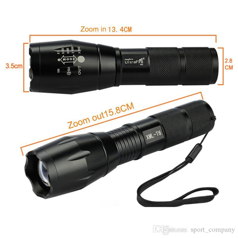 High Quality XM-L T6 LED Tactical Flashlight Waterproof Zoom Bike Light Torch Lamp Rechargeable 18650 Battery Camping Flash Light