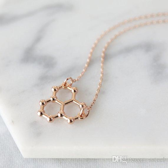 30pcs lucky geometric Water Molecule Necklace Science STEM Necklace Chemistry pendant Necklace ice Hydro molecule H2O formula jewelry