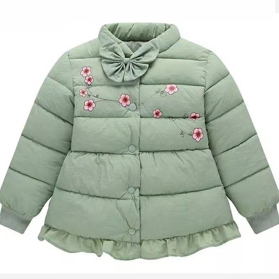 80da28b4b Fashion Warm Thicken Winter O-NECK Collar Girl Short Coat Children ...