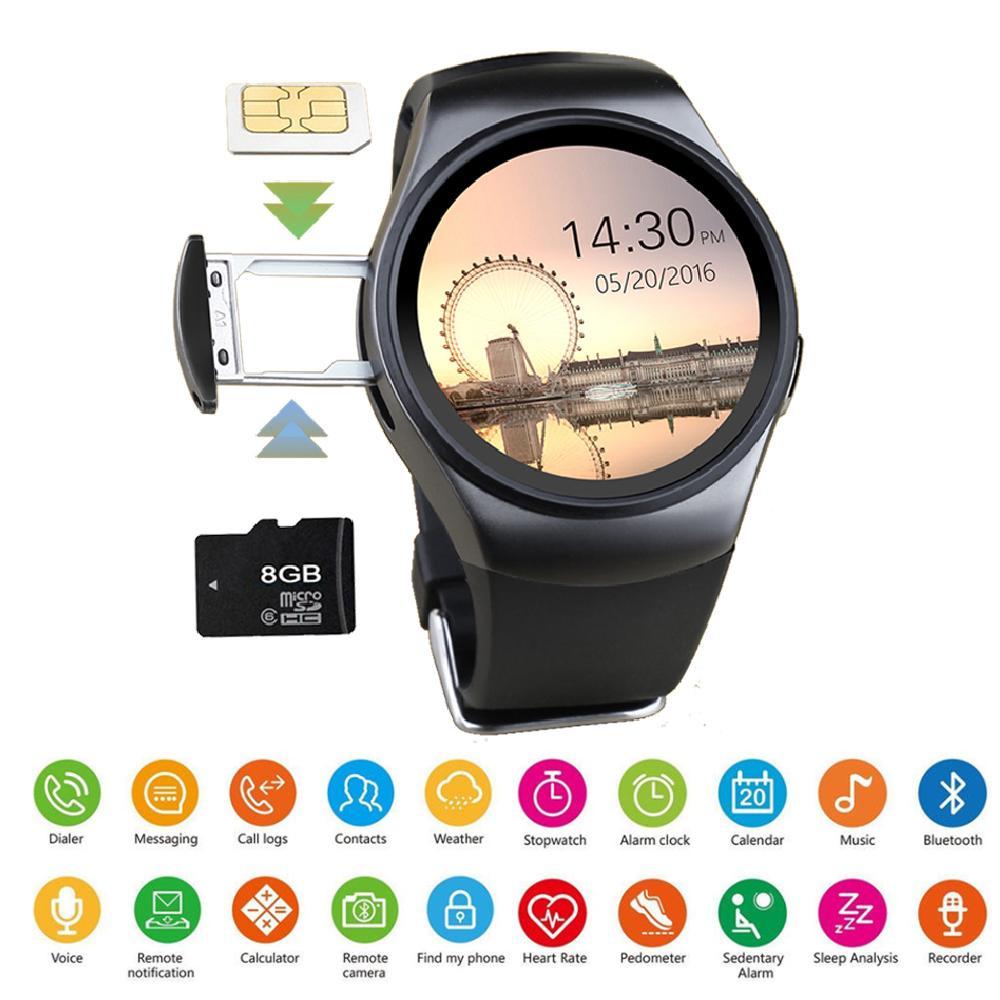 Digitale Uhren Uhren 2018 Neue Edelstahl Bluetooth Smart Uhr Frauen Männer Sport Wasserdichte Smartwatch Led Farbe Touch Screen Uhr Unterstützung Sim Tf