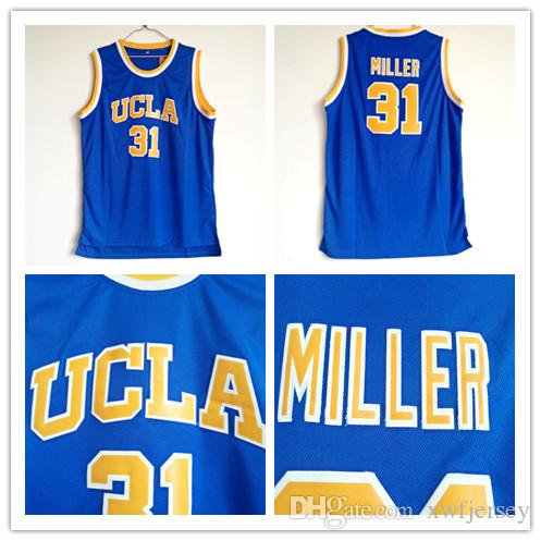 993cca44cad7 2019 NCAA College UCLA Bruins Reggie  31 Miller Basketball Jersey Shirt All  Stitched Top Quality Vintag Shirt S 2XL From Xwfjersey
