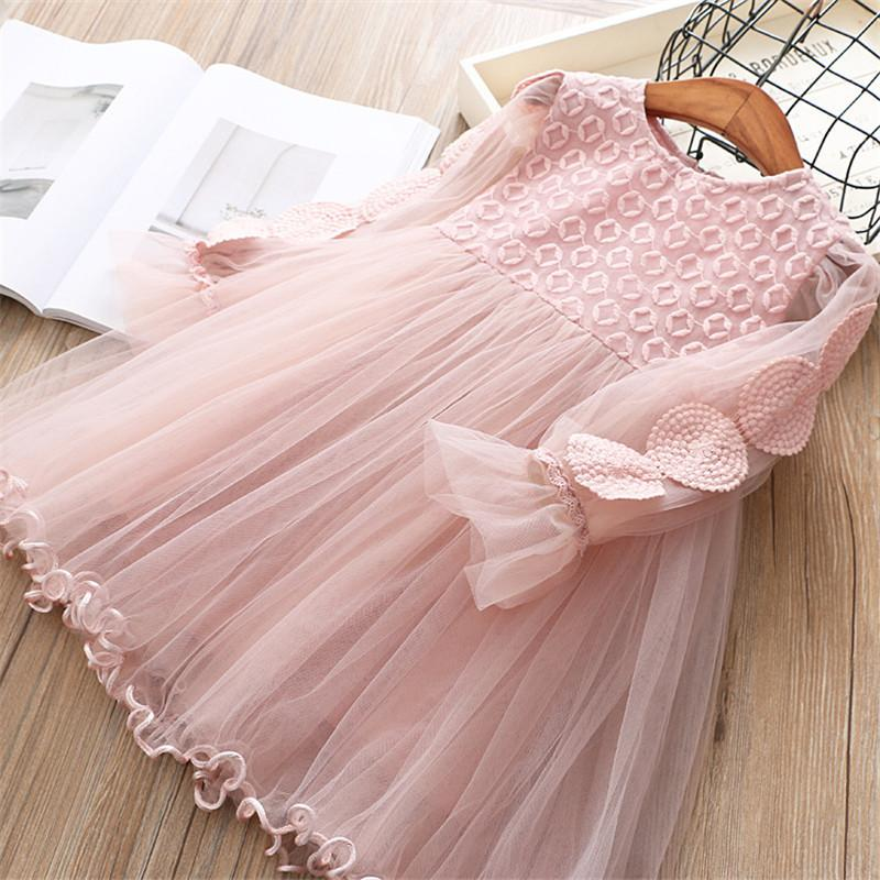 0-6 years High quality girl dress 2019 spring new European and American style Chiffon kid children clothing girl princess dress