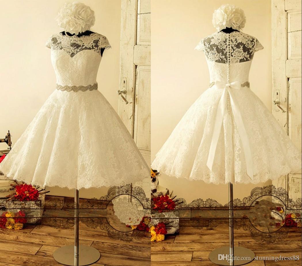 Short Wedding Dress Ribbon