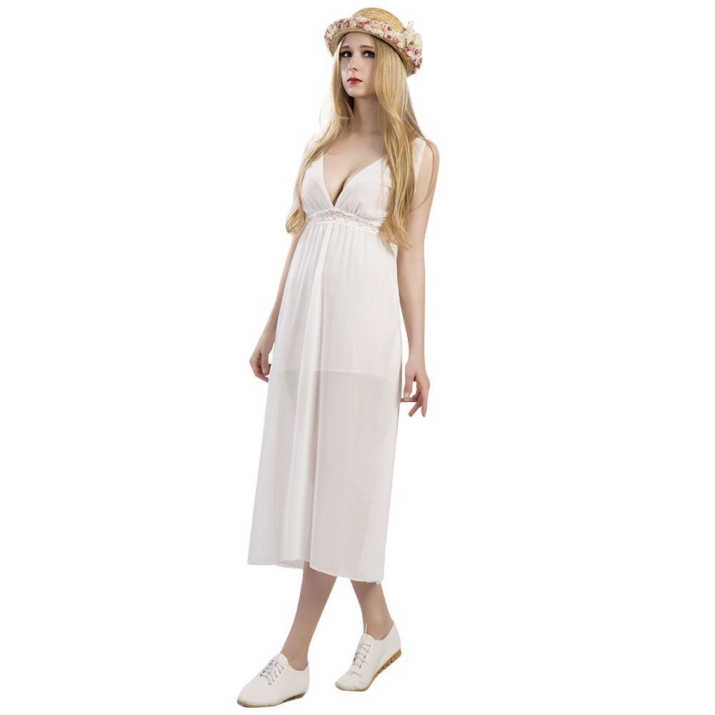 4b894a4f92db4 Sexy Hollow Out White Lace Dress Women Summer High Waist Sleeveless  Backless Dress 2019 Elegant Mid Calf Beach Dress Vestidos Elegant Dresses  Polka Dot ...