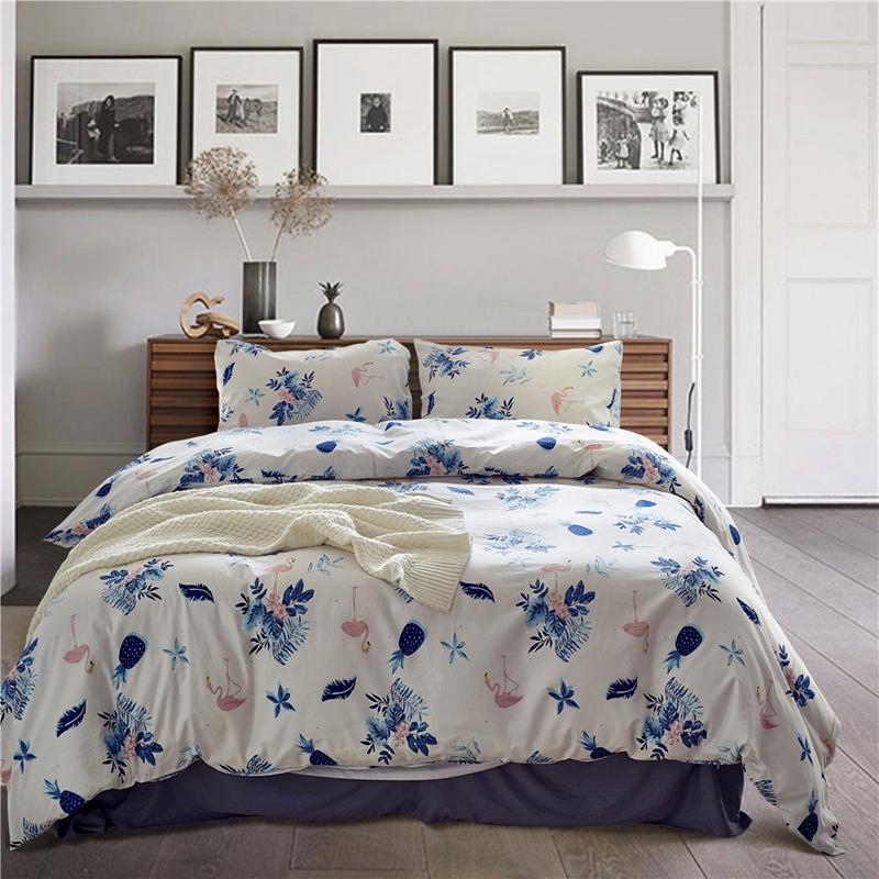 Merveilleux Single Double Bed Cotton Bedding Sets Pastoral Style Pineapple Duvet Cover  Sets Twin Queen King Size For Kids Adults XF487 Designer Comforter Sets  Queen ...
