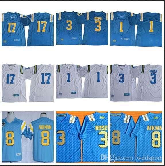 more photos 1b48c cd9be Mens UCLA California Bruins Josh Rosen Stitched Name&Number American  College Football Jersey Size S-3XL