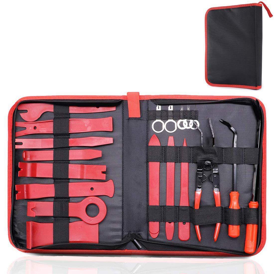 19 STÜCKE Trim Removal Installer Tool Set Auto Panel Removal Tool Auto Trim Entfernung Hebeln Repair Tool Kit Handwerkzeuge Mit Aufbewahrungstasche