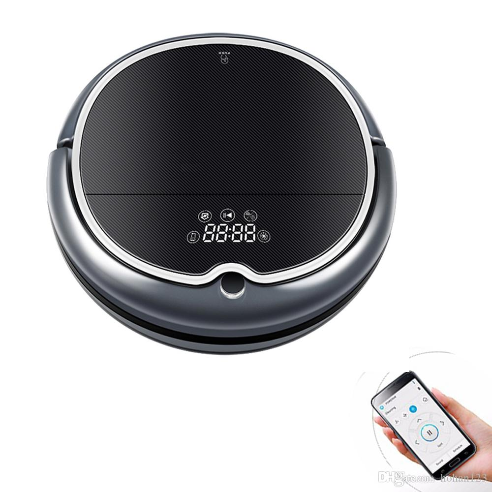 Q8000 robot vacuum cleaner 2D map black /white floor sweeper dry wet on