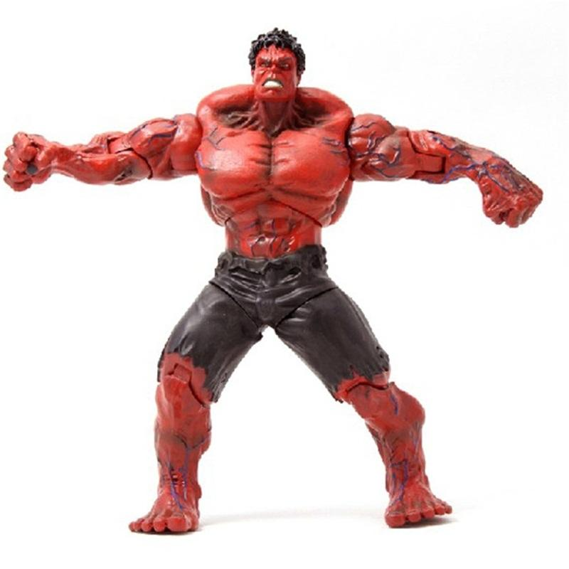 Red Hulk Action Figure The Avengers PVC Figures Hands Adjusted Toy Movie Lovers Collection Children Hot Sale 53hj D1