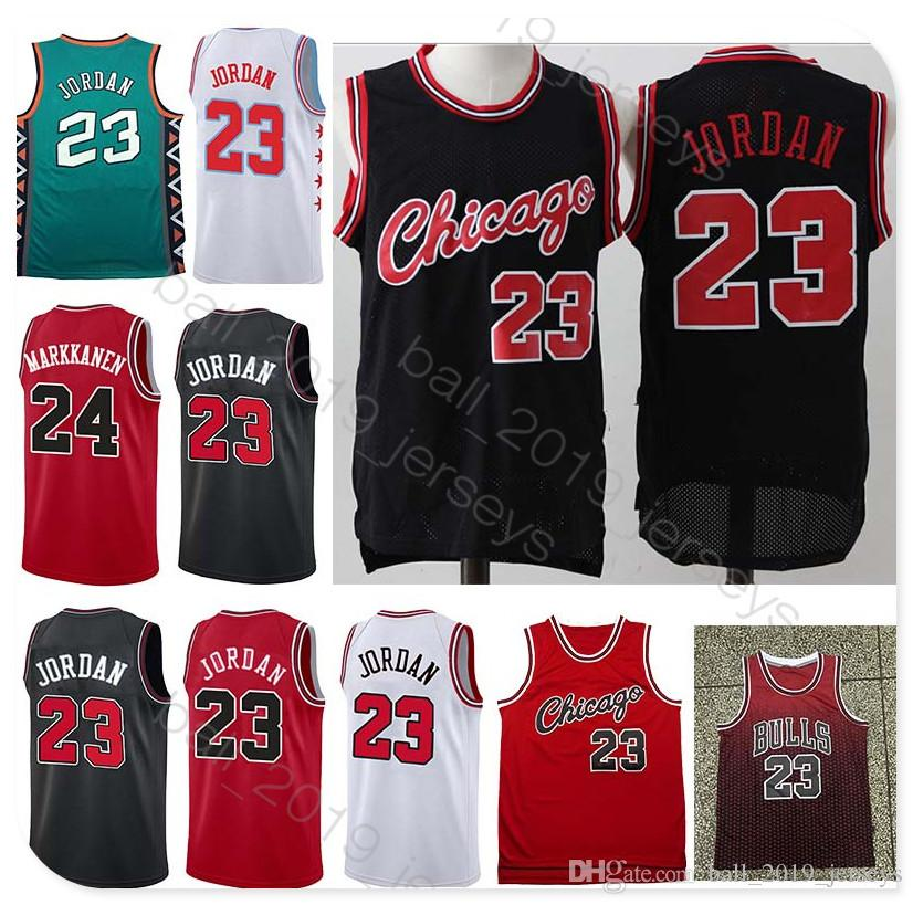 timeless design ee650 3cebc Retro Bulls jersey 23 MJ jersey 33 Pippen 91 Rodman 24 Markkanen 2019 Hot  Popular men basketball jerseys