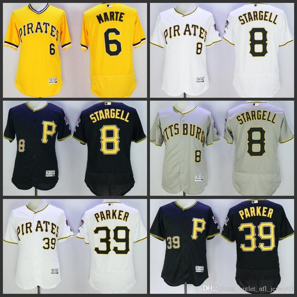 b80bf28e1 2019 2019 New Pittsburgh Men Pirates Baseball Jersey  6 Starling Marte 8  Willie Stargell 39 Dave Parker Women Youth Jerseys From Jerseyoutlet 06