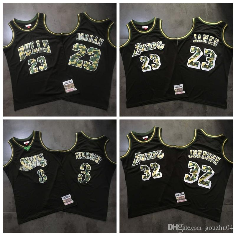 info for 98321 a8c9b New Los Angeles Dense Laker Basketball Jersey #23 LeBron James Retro #32  Earvin Johnson ALL Stitched Jersey And Dense AU Fabric Jersey MEN