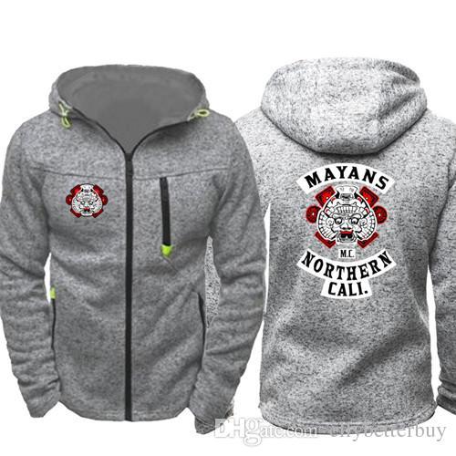 263985680db3 2019 Mayans Mc Northern Cali Men Sports Wear Hoodies Zipper Fashion Tide  Jacquard Fall Sweatshirts Spring Autumn Jacket Coat Tracksuit Tops From ...