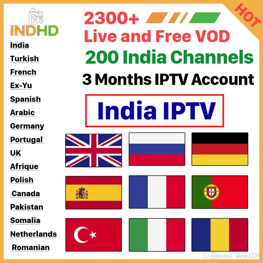 India Pakistan Subscription IPTV France Arabic IP TV  Italia/Turkish/EX-YU/Germany/Portugal IPTV Account For Android Support Free  Test