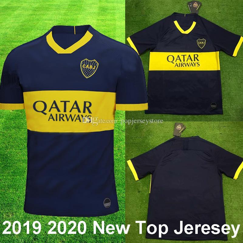 official photos 48a36 bed23 2019 2020 New Boca Juniors Home Blue Soccer Jerseys PAVON CARDONA TEVEZ  BENEDETTO Boca Football shirt GAGO camisetas de futbol Top Quality
