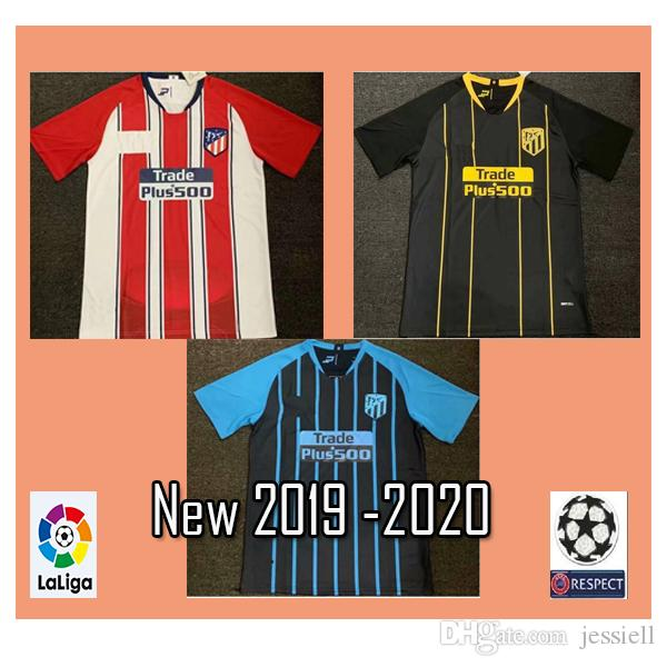 detailed look 60c6a 5d522 Madrid new 19 20 Atletico GRIEZMANN KOKE SAUL DIEGO Atletico Madrid adult  football shirt COSTA GODIN CORREA home away third Soccer Jersey