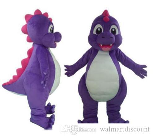 2019 High quality purple dino dinosaur mascot costume suit for adult to wear for sale