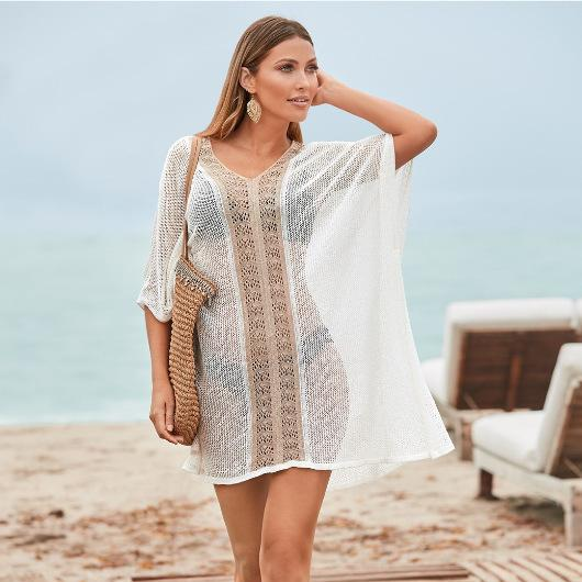 Costume da bagno Swim Cover Up Abito da donna 2019 Donna New Hollow Plus Costume da bagno femminile Acetato Sierra Surfer Bikini