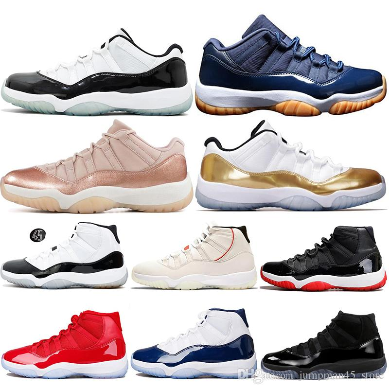 2019 Unisex Basketball Shoes Navy Gum Georgetown Concord 45 Platinum Tint  Cap And Gown 11S 11 Rose Gold High Low Sports Sneakers 5.5 13 From  Jumpman45 store ... f890d5509f21