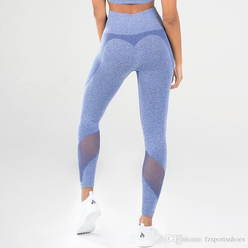 b6970bb275600 2019 Women Yoga Pants Woman Tight Gym Leggings Fitness Leggings For Women  Sports Pant Seamless High Elastic Sports Wear #330993 From Fzsportsshoes,  ...
