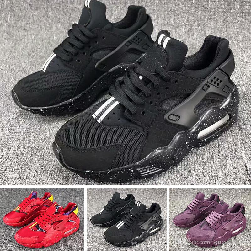 huge discount 51fdd eada8 Großhandel Nike Air Huarache 35Huarache Sneakers Big Kids Jungen Und Mädchen  Bunte Schwarz Weiß Huarache Blau Laufschuhe Sneakers Triple Huaraches  Athletic ...