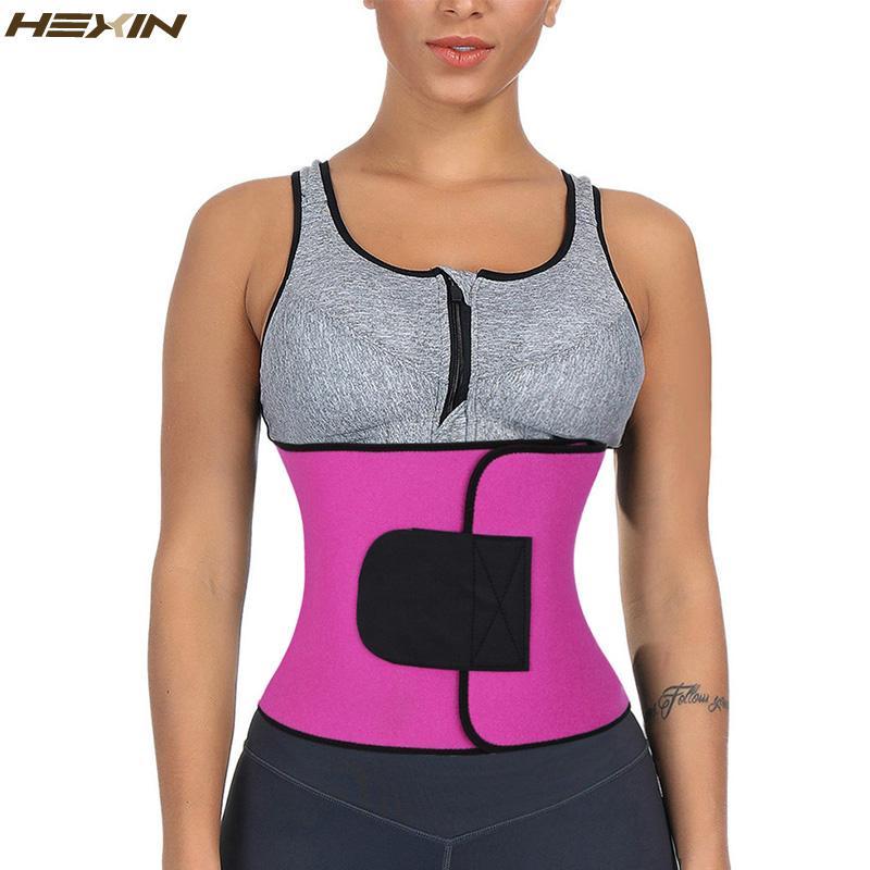 91e7e075247 2019 HEXIN Neoprene Waist Trainer Hot Body Shapers Cincher High Compression Slimming  Abdominal Belt Fitness Women Fajas Sweat Corset From Aimea