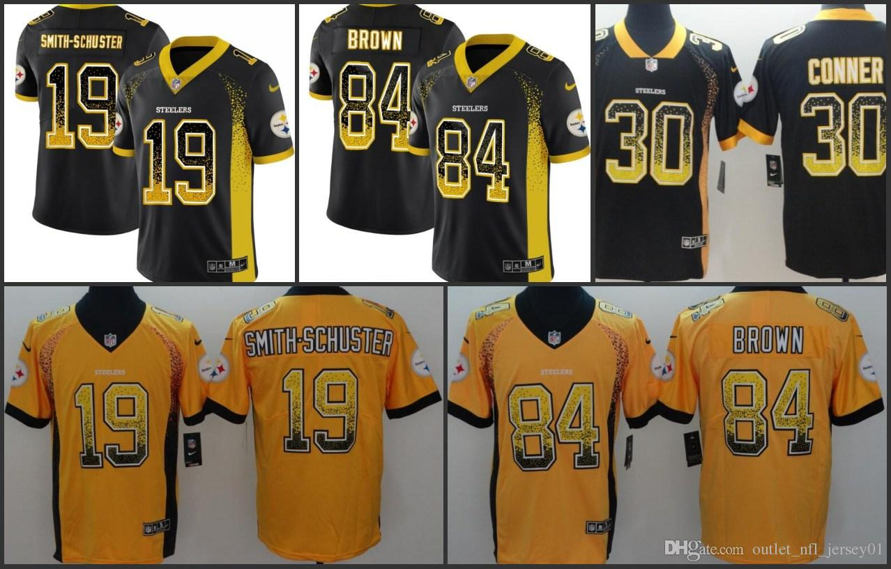 brand new b3d09 1d9a4 Pittsburgh Men Steelers Jersey #19 JuJu Smith-Schuster 84 Antonio Brown 30  James Conner Women Youth Drift Fashion Color Rush Limited Jerseys