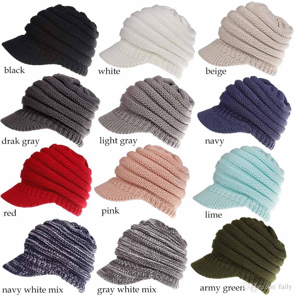 0b1eba36189 2018 Autumn And Winter New Baseball Cap Cap Wool Hat Ladies Rear Opening  Pony Cap Beanies Kangol From Faily