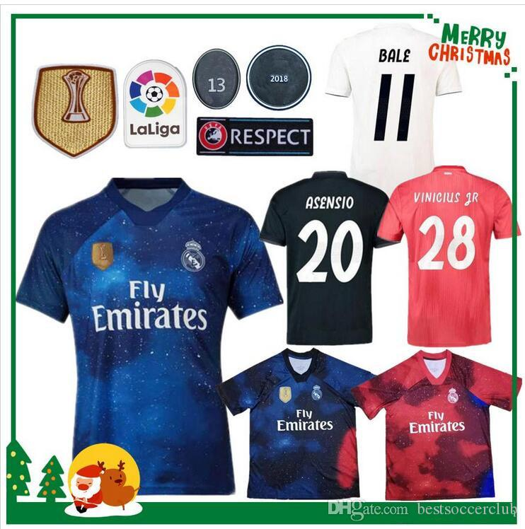 e7330596e 2019 2018 Madrid Jersey Benzema ASENSIO Football Soccer Modric Kroos Sergio  Ramos Bale Marcelo 18 19 Champions League Real Madrid Shirts From  Bestsoccerclub ...
