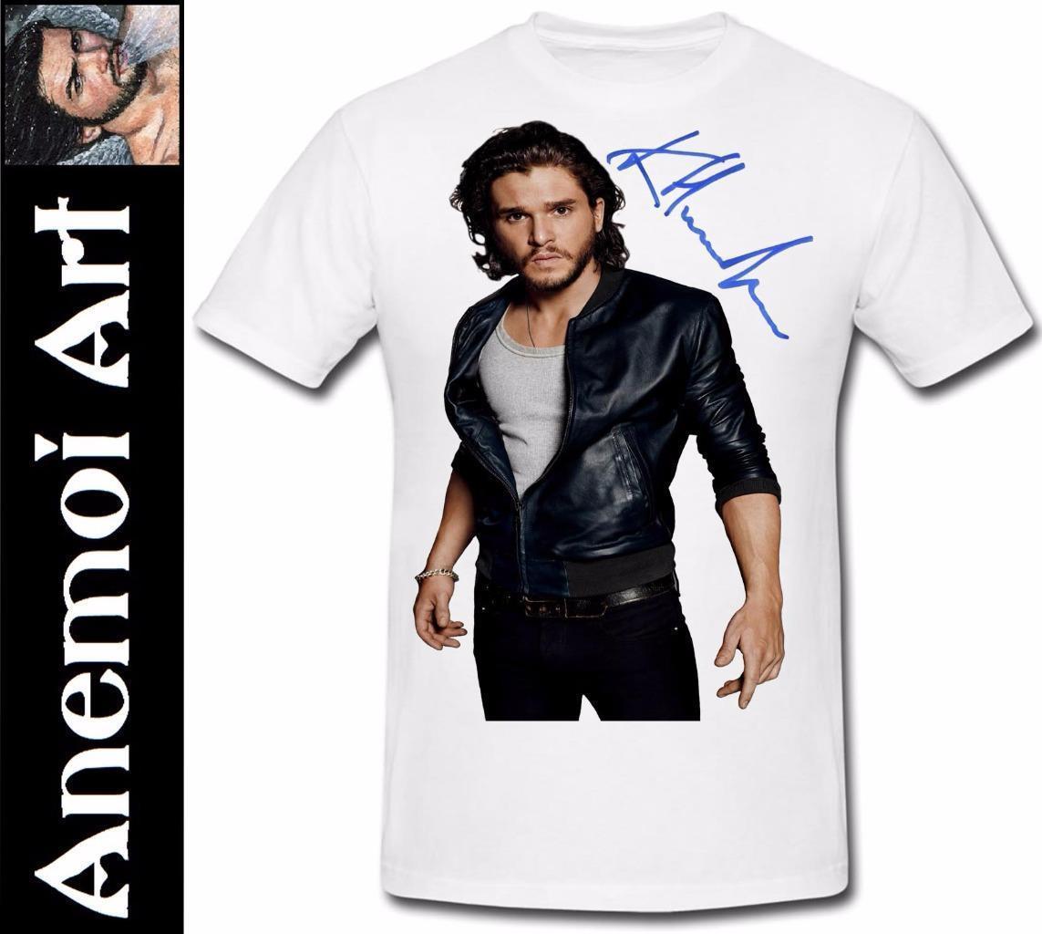 1255a57ca Compre 406 Assinado Kit Harington Camiseta T T Shirt Assinatura Autógrafo  Game Of Thrones Engraçado Frete Grátis Unisex Tshirt Top De Cheapasstees,  ...
