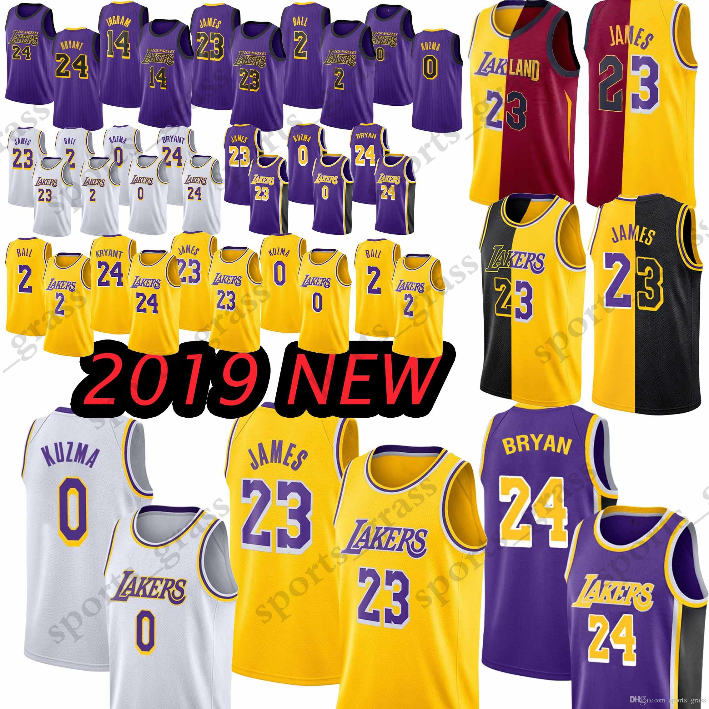 0f914b7dc High-quality Los Angeles Lakers 23 LeBron James Jerseys 2 Lonzo Ball ...