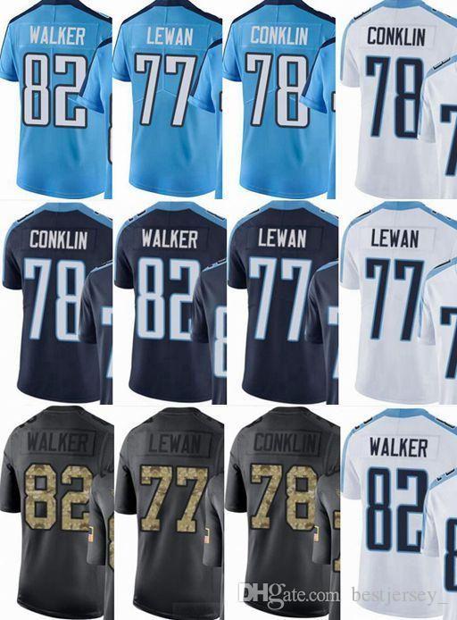 Titans Custom Men Youth Women Jersey  82 Delanie Walker 34 Earl Campbell 77  Taylor Lewan 78 Jack Conklin Vapor Untouchable Limited rush elit Pittsburgh  ... ddbc137af