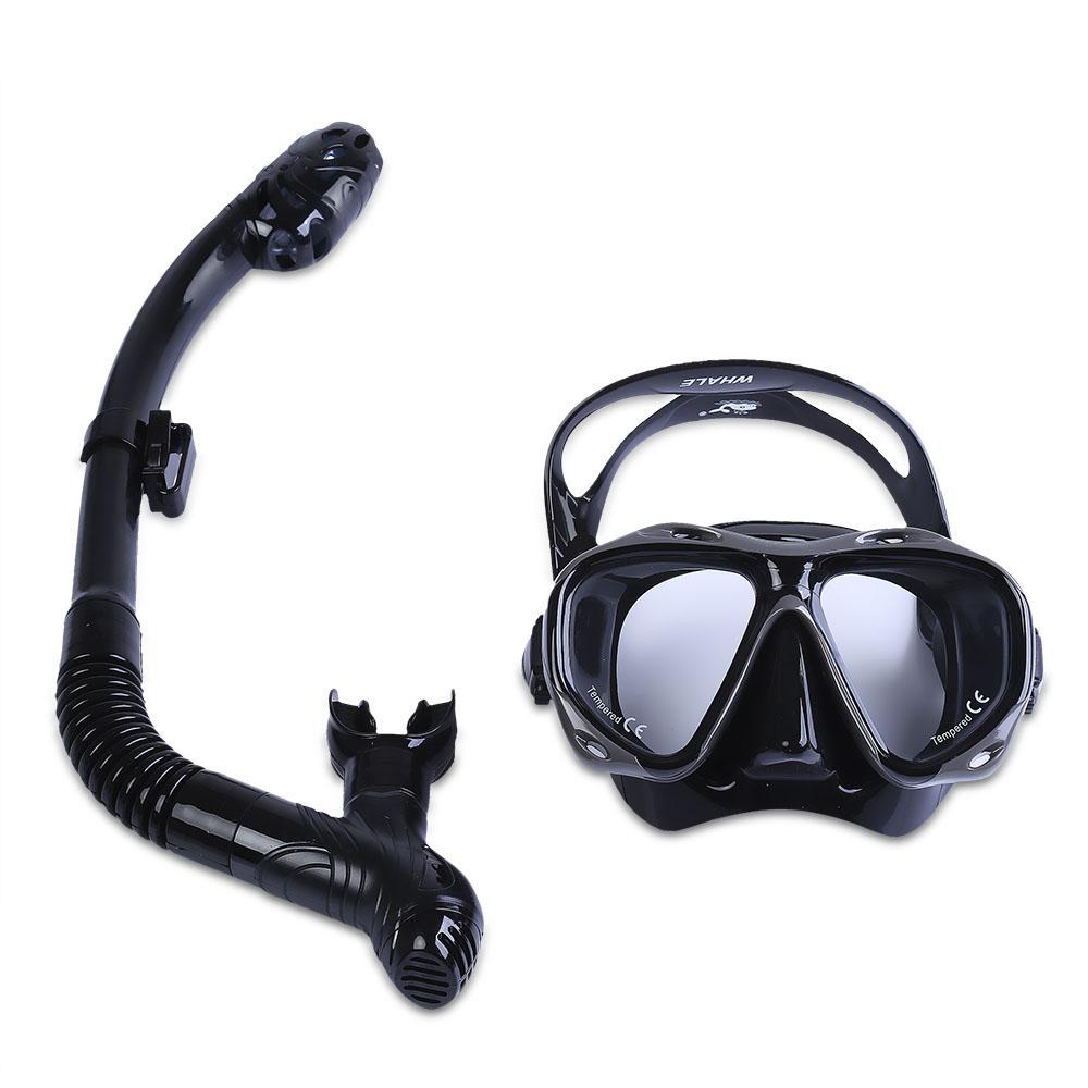 a54185c12 Compre Máscaras De Buceo WHALE Máscaras De Buceo Profesionales Máscara De  Silicona Para Esnórquel Conjunto De Gafas De Snorkel Gafas De Buceo Gafas  Para ...